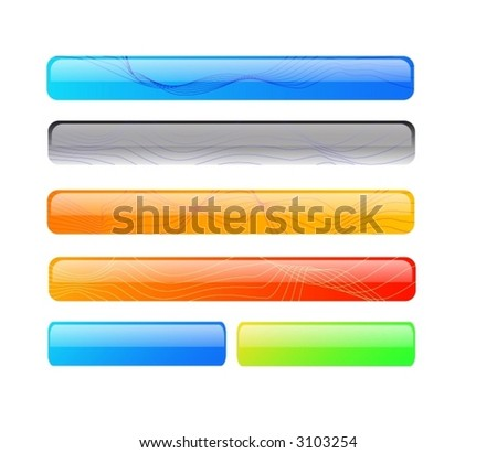 Vector Buttons and headers - stock vector