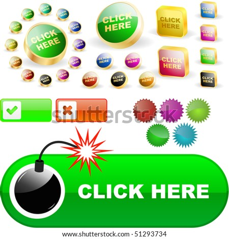 Vector buttons for web. Vector great collection.