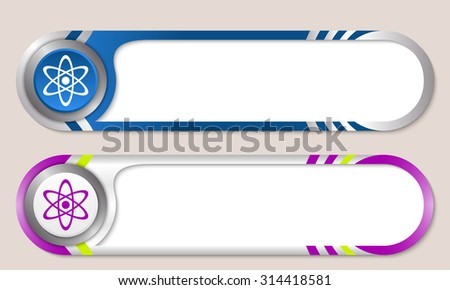 Vector buttons for your text and science symbol - stock vector