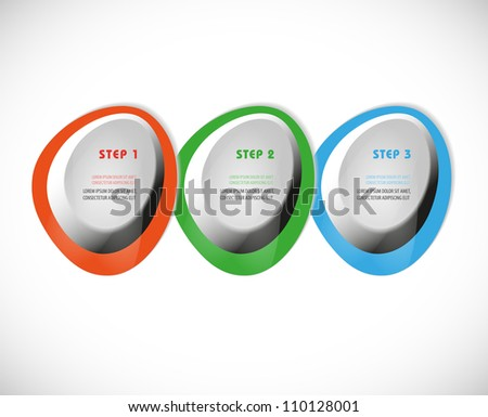 Vector buttons progress steps. Color-coded - stock vector