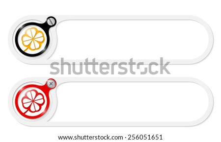 vector buttons with screw and cloverleaf - stock vector
