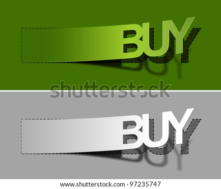 Vector buy now sticker design, eps10 - stock vector