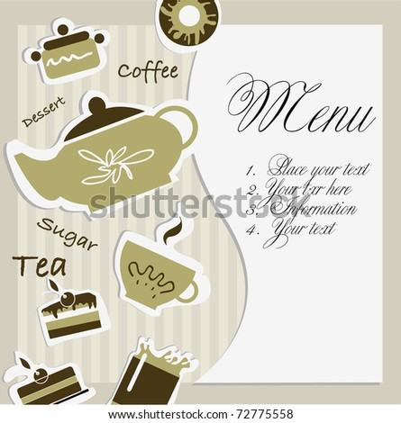 Vector Cafe menu. - stock vector