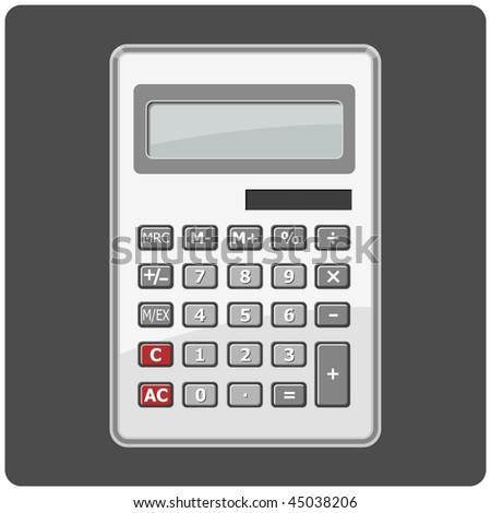 vector calculator - stock vector