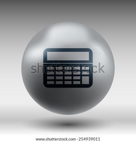 Vector Calculator Icon website isolated displa, mathematics - stock vector