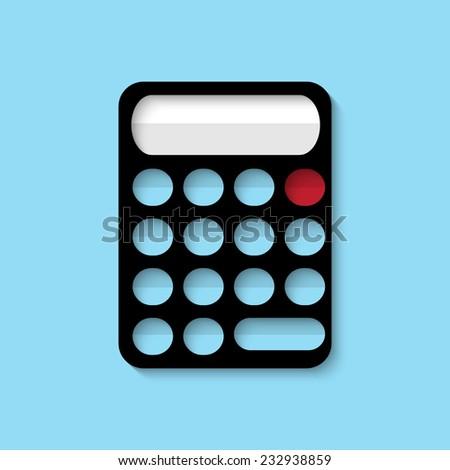 Vector calculator web flat icon. Eps 10 illustration. - stock vector