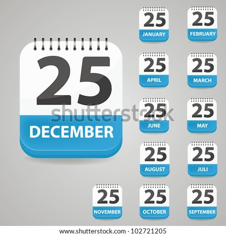 Vector calendar set - stock vector