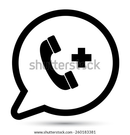 Vector call icon. File format eps 10 - stock vector