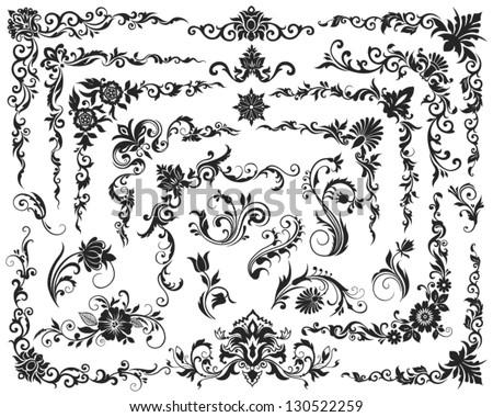 Vector  calligraphic design elements - stock vector