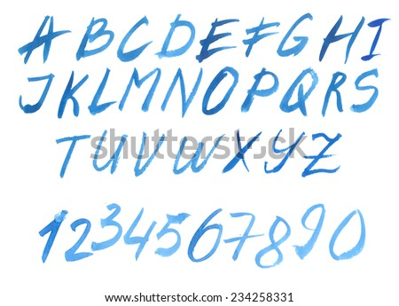 Vector Calligraphy Brush Style Hand Drawn Alphabet Font - stock vector