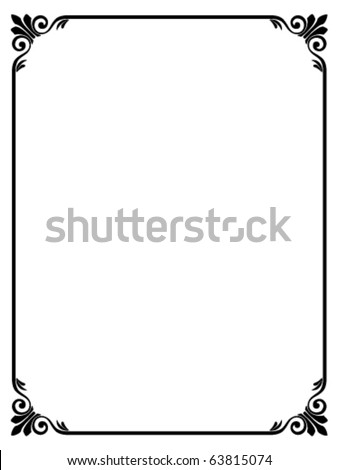 Vector calligraphy ornamental decorative frame - stock vector