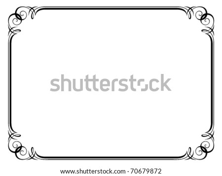 Vector calligraphy ornamental penmanship decorative frame - stock vector