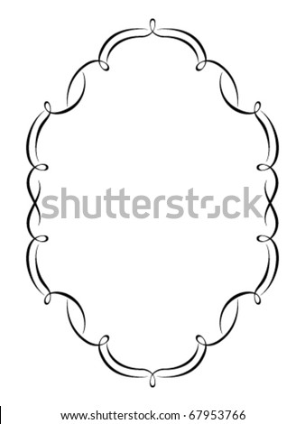 Vector calligraphy ornamental penmanship decorative frame, not trace use it by part - stock vector