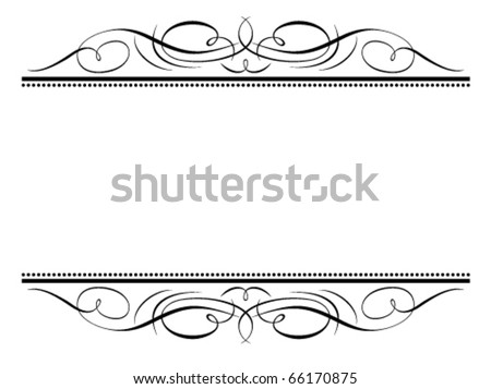 Vector calligraphy vignette ornamental penmanship decorative frame - stock vector