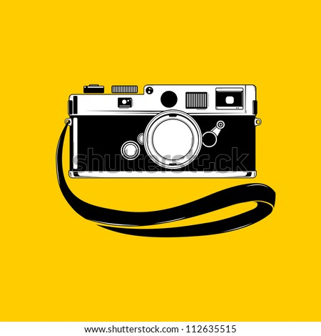 Vector camera. Easy to edit. - stock vector
