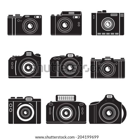 vector camera set - stock vector
