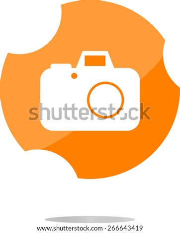 vector camera web icon isolated on white background - stock vector