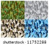 Vector camouflage - 4 colours - stock vector