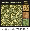 Vector camouflage textures from various army colors. Abstract geometric pattern for decoration and design - stock vector