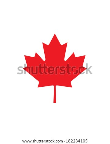 Vector Canadian Maple Leaf Icon - stock vector