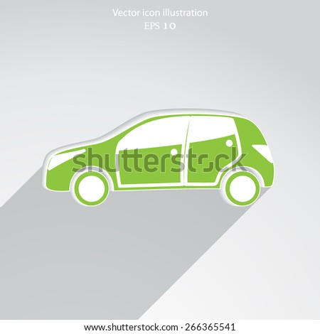Vector car flat icon illustration.