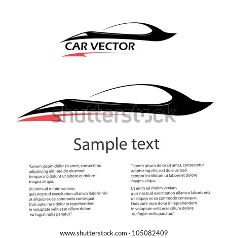 vector car icon. fast racing automobile. - stock vector