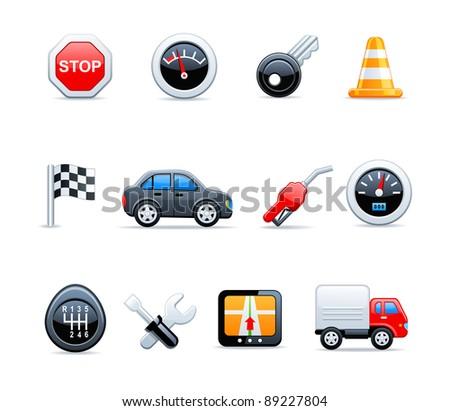 Vector car icons - stock vector