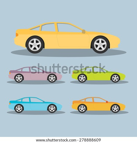 Vector car in flat style - stock vector