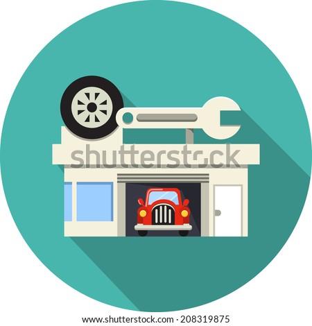 Vector Car Service  - stock vector