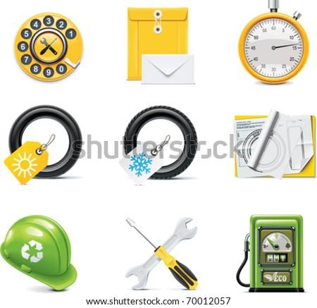 Vector car service icons - stock vector