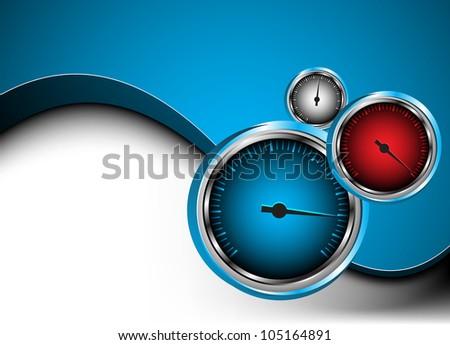 Vector car speedometer. Abstract background. Clip-art - stock vector