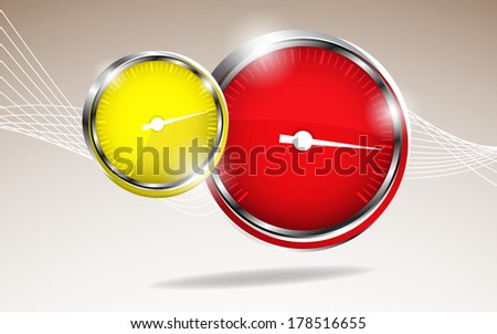 Vector car speedometer. Abstract background. Clip-art - stock vector