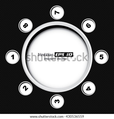 Vector carbon black background with numbers