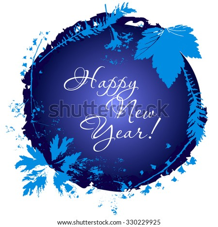"Vector card, congratulation ""Happy New Year"".Easy to edit - stock vector"