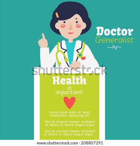 Vector card - Doctor  - stock vector