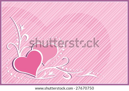 Vector Card - Hearts