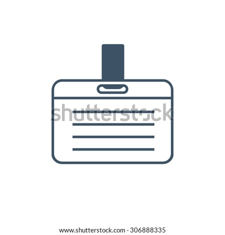 Vector Card Name or Id Holder isolated on white - stock vector