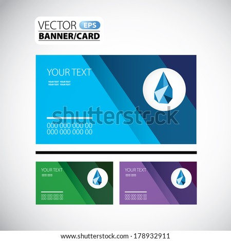Vector card or banner for designers - stock vector