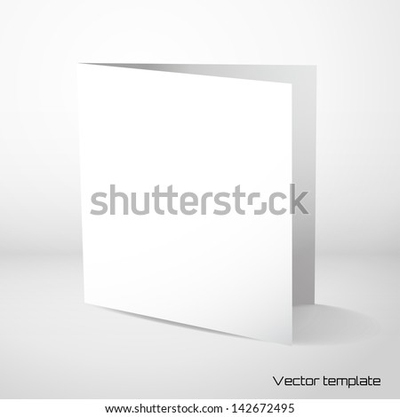 Vector card template. - stock vector