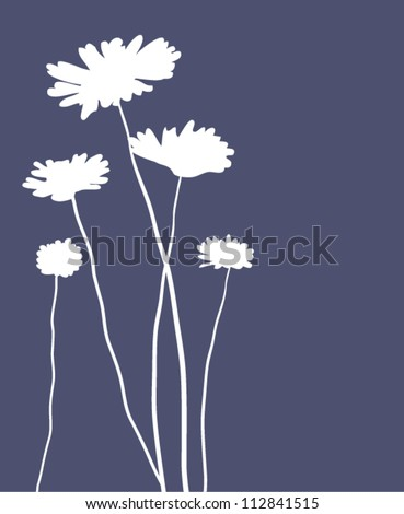 vector card with camomiles - stock vector