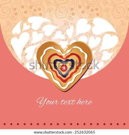 Vector card with place for  presentation. invitation, card Valentines Day, Christmas, birthday, wedding. - stock vector