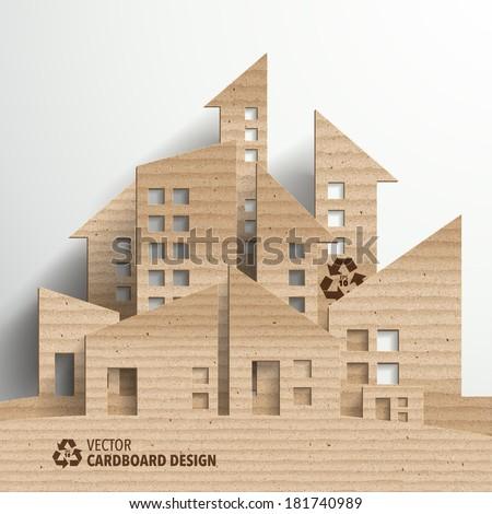 Vector Cardboard Graphics - stock vector