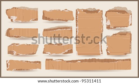 vector cardboard objects - stock vector