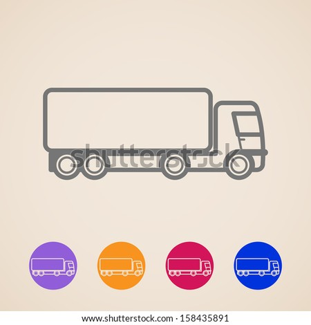 vector cargo truck icons - stock vector