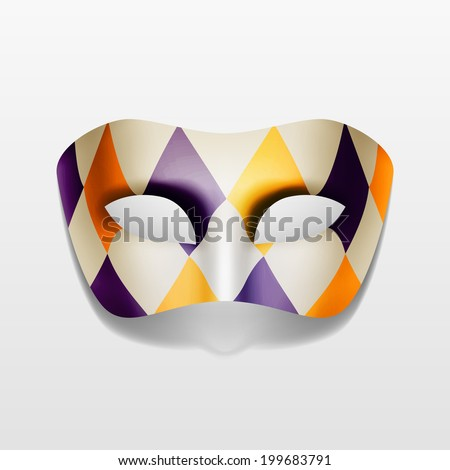 Vector Carnival Masquerade Party Mask Isolated on White Background - stock vector