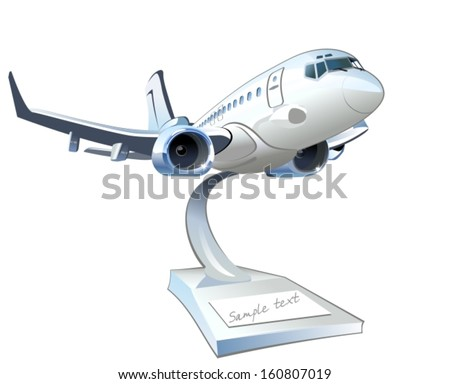 Vector Cartoon Airliner. EPS-10 separated by groups and layers for easy edit - stock vector