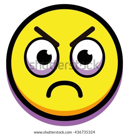 vector cartoon angry face isolated on stock vector hd royalty free rh shutterstock com angry cartoon face girl angry cartoon face photos