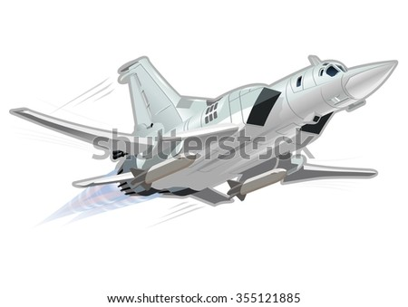 Vector Cartoon Bomber. Available EPS-10 vector format separated by groups and layers for easy edit - stock vector