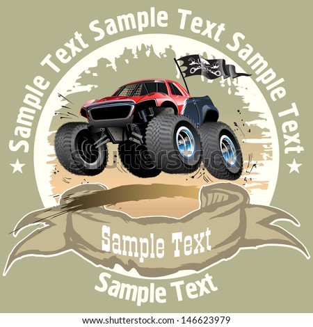 Vector Cartoon Buggy. Available EPS-10 vector format separated by groups and layers for easy edit - stock vector