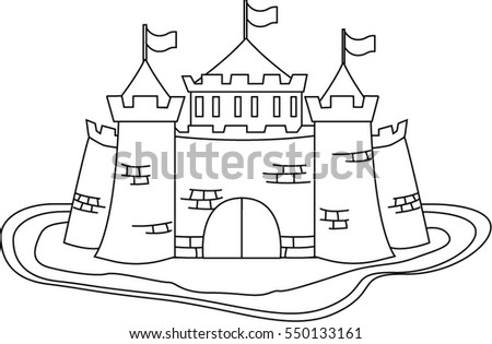 Vector Cartoon Castle For Games Coloring Kids